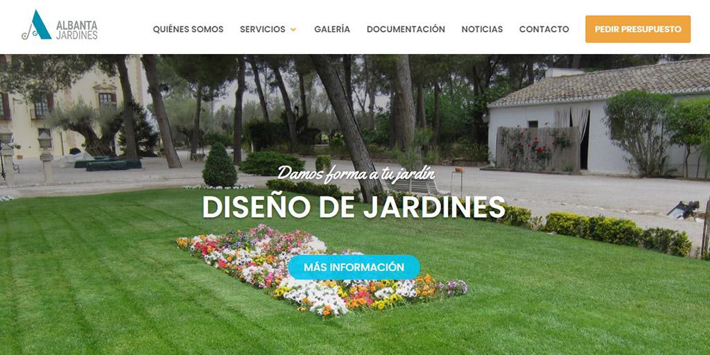 Nueva web de Albanta Jardines