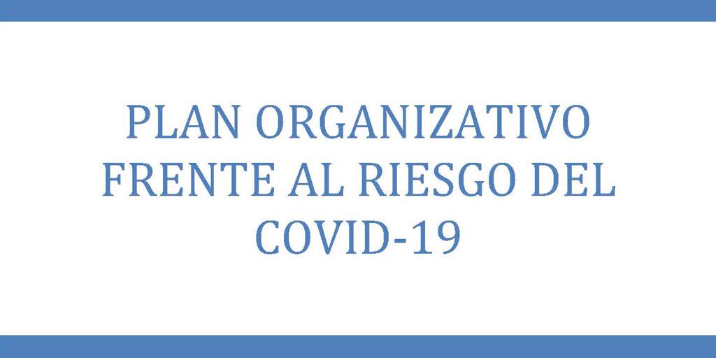 Plan organizativo frente al riesgo de COVID-19